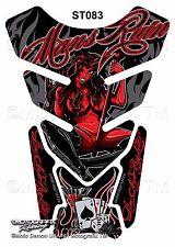 She Devil Gambling Alcohol Mans Ruin Motografix Motorcycle Tank Pad Protector