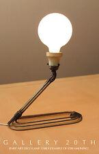 RARE! 1930'S ART DECO INDUSTRIAL LAMP Mid Century Modern Donald Deskey Eames Vtg
