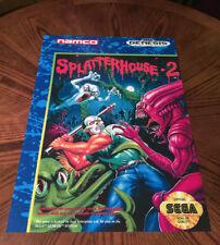 "Splatterhouse 2 Sega Genesis box case art retro video game 24"" poster print"