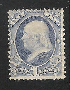 U.S. Scott O35 Navy official no gum 1c stamp.