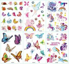 6 Sheet Kids Crystal Shiny Glitter Temporary Tattoo Stickers Body Art