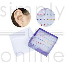 20 Pairs Women's Ladies Jewellery Crystal Gems Plastic Stud Earrings