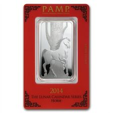 PAMP Suisse Lunar Year of the Horse 2014 1 oz .999 Silver Bar (in Assay)