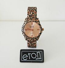 ETON Ladies Watch Metal Rose Gold Leopard Print - 3256L Boxed NEW Fashion
