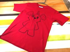 Unique Knits UNKTS Red & Black Graphic Tee Shirt Space Bear Mens Size Medium
