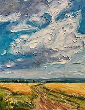 Dirt Tract Harvest Impressionism Landscape OIL PAINTING IDKOWIAK Impasto Texture