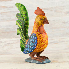 A1427 Rooster Alebrije Oaxacan Wood Carving Painting Handcrafted Folk Art Mx
