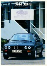 Bmw 324d 324td e30 2/87 folleto (d) brochure auto folleto auto automóviles transporte Car
