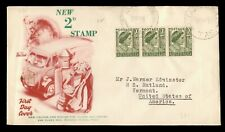 Dr Who 1951 Australia Fdc New 2D Stamp C219520