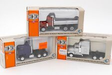HERPA CON-COR HO 1/87- 3 x CAMIONS US FREIGHTLINER KENWORTH ... AVEC BOITES