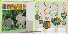 Go Diego go Scene Setter + Swirl Decorations Birthday Wall Banner party Supplies