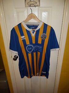 Men's Shrewsbury Town Replica Football Shirt, Home 2018-2019 Season, Large