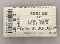 2005 Chicago Cubs Ticket Stub Wrigley Field Ryne Sandberg 23 Jersey Day 8/28/05