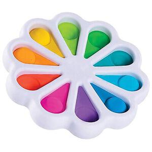 Flower Fidget Toys Sensory Simple Dimple Stress Relief Kids Adult Flipping Board