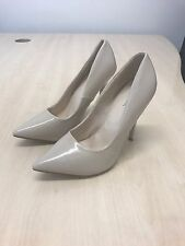 Womens Nude Patent Court Pointed Heels Brand New Never Worn UK 4