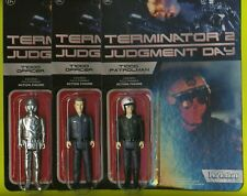 All 3 Moc Terminator 2 Judgement Day T1000 Lot W/ Chase Variant Funko Reaction