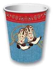 PAPER CUP COWBOY RODEO BARN DANCE WESTERN THEMED PARTY DECORATIONS TABLEWARE