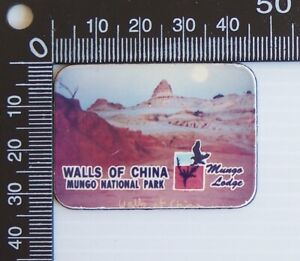 VINTAGE MUNGO NATIONAL PARK LODGE WALLS OF CHINA SOUVENIR VINYL FRIDGE MAGNET