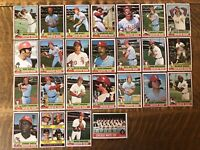 1976 CHICAGO WHITE SOX Topps COMPLETE MLB Team SET 25 Cards GOSSAGE DENT DOWNING