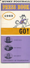 1963 Washington Husky Football Press media Guide CFBmg19