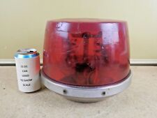 Vintage Signal Stat 370 w/ 375 Dome Rotating Red Firetruck Beacon Light -DAMAGED