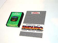 ENDURO + manual atari 2600 cartridge videogame