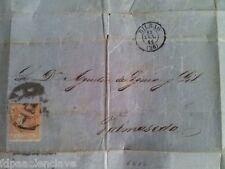 BALMASEDA BIZKAIA Carta Misiva 1861 antigua Isabel ll Costumbrista Rara Vizcaya