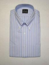 $79 New Jos A Bank executive light blue dress shirt w/ stripe pattern 15.5 - 34