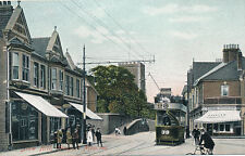 Wales Mon NEWPORT Slow Hill Tram 38 early PPC A Graves Dairy