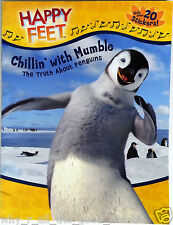 HAPPY FEET Chillin' With Mumbles Truth About Penguins Fact Book + 20 Stickers