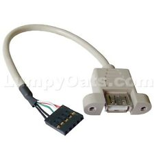 Internal USB A/F to Mobo Pinout Adapter Cable FREE S/H