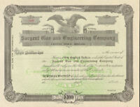 Sargent Gas and Engineering Company > 189_ Maine stock certificate share