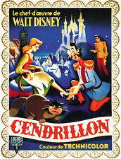 Cenicienta (1950) Walt Disney Dibujos Animados Película Cartel Póster