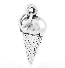 STERLING SILVER ICE CREAM 3D CHARM/PENDANT