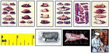Miniature Butcher / Deli  STORE  Prints  -  Dollshouse 1:12 scale