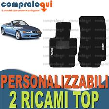 per BMW Z3 E36 TAPPETINI tappeti PER AUTO SU MISURA in MOQUETTE + 2 RICAMI TOP
