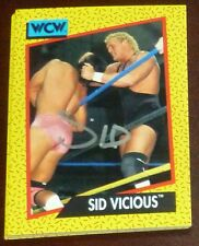 Sid Vicious Signed Auto'd 1991 Impel WCW Rookie Card RC #35 Autographed WWE WWF