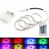 Batterie Betrieben LED Streifen 5050 RGB Stripe Mehrfarbige Licht Wasserdicht
