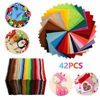 """42/84Pcs Felt Fabric Sheet 6""""x6"""" Assorted Color DIY Craft Squares Nonwoven 1.5mm"""