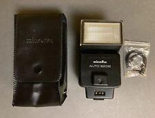 Minolta Auto 320x Flash  W/ Case And Manual