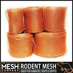 Copper RatMesh Soffit Mesh For Mouse Rat Rodent Slug Control 125mm - UK Made