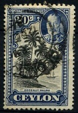 Ceylon 1935 SG#374, 20c Coconut Palms KGV Used #D42011