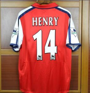Arsenal 2000 2002 Henry 14 Home Retro Soccer Jersey Football Shirts 2000/ 2002