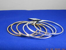 Kenneth Cole Two Tone MODERN ESSENTIALS 6 Piece Bangle Bracelet Set $48