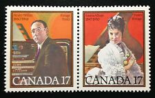 Canada #860-861a MNH, Canadian Musicians Pair of Stamps 1980