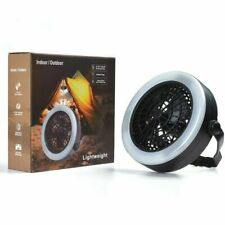 Tent Fan Light LED Camping Hiking Headlamp Gear Equipment Portable Ceiling Lamp