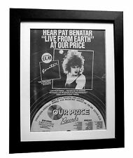 PAT BENATAR+Live From Earth+POSTER+AD+RARE+ORIGINAL 1983+FRAMED+FAST GLOBAL SHIP