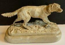 Vintage Royal Nymphenburg Porcelain Pointer? Dog figurine signed Pj Mene
