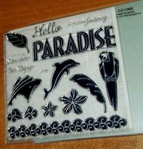 CTMH CC1065 HELLO PARADISE ~ Ship,ADVENTURE, Dolphin, Parrot, ENJOY YOUR JOURNEY
