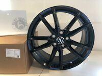 "Original VW Leichtmetall-Felge ""Pretoria"" 18 Zoll schwarz Golf Seat Leon Audi A3"